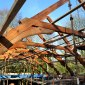 new build old salvaged timber trusses cork