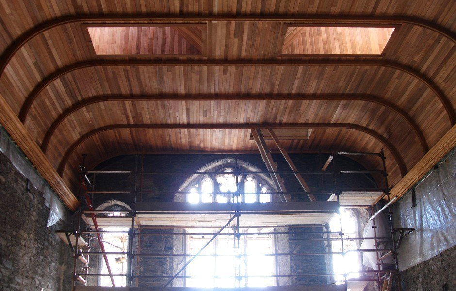 Restored half barrel ceiling