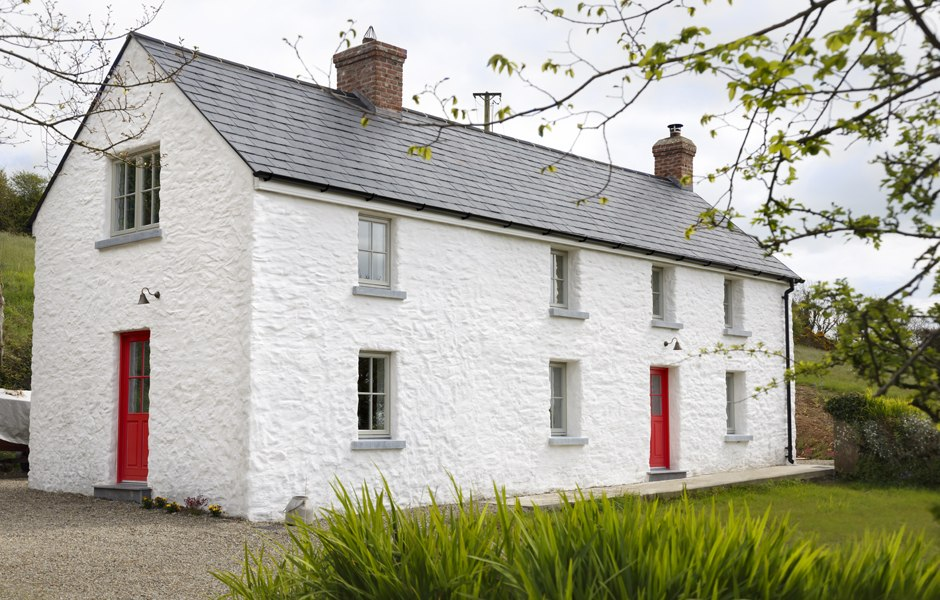 renovation cottage limewash cork