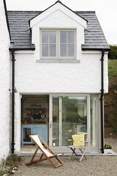 porch area sliding door extension cottage