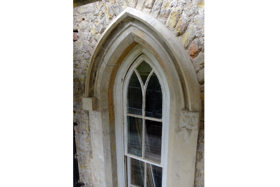 georgian house arched window detail cork
