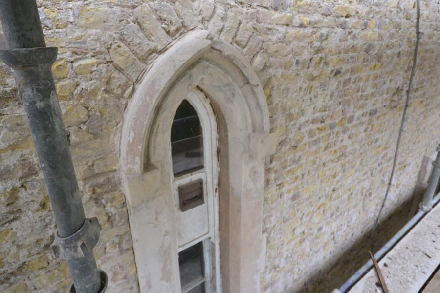 arched window georgian plaster detail