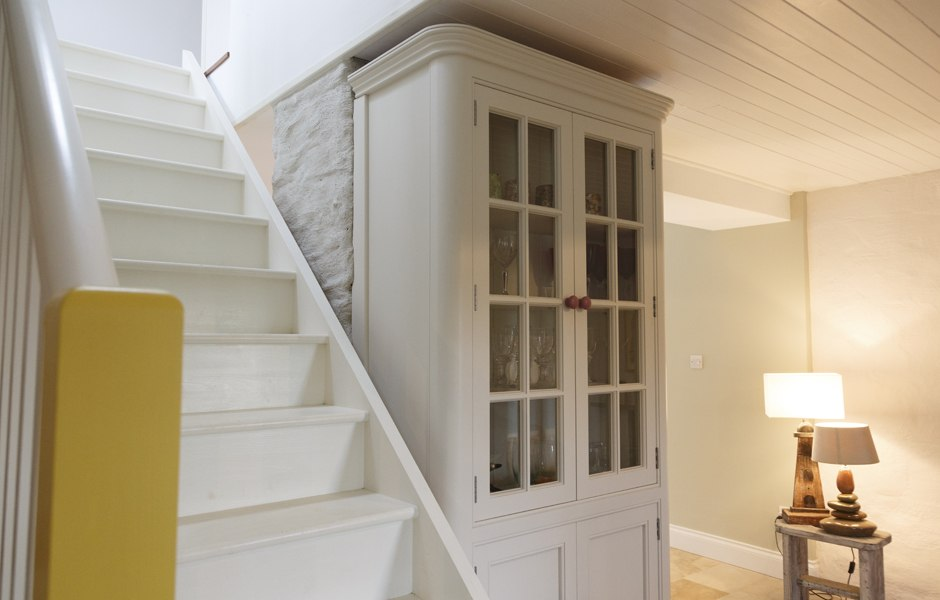 interior timber staircase farmhouse renovation